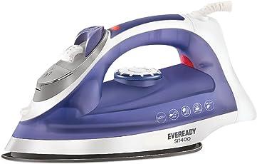 Eveready SI1400 1400-Watt Steam Iron (White/Blue)