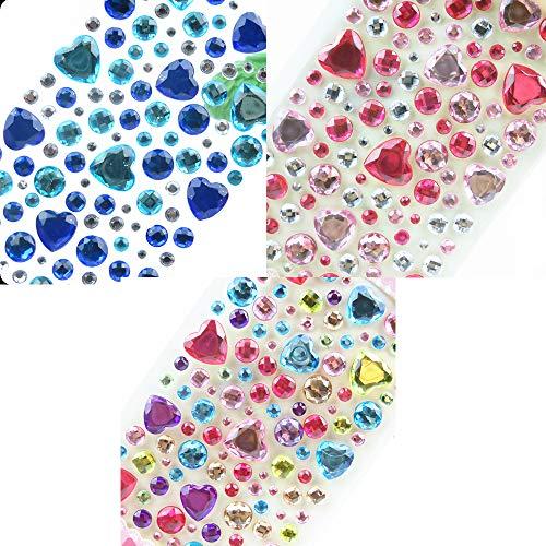 Limeow Aufkleber Diamant Rund Selbstklebend Kristall-Aufkleber Strass-Sticker Diamant-Aufkleber Aufkleber Aufkleber Rund Selbstklebend Kristall Diamant Aufkleber Strass Sticker Kristall(Insgesamt 3) -