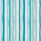 Bunte grafische Streifen Tapete 'Dotted Lines' in türkis angepasst an Farrow and Ball Wandfarben- Vlies Tapete Grafisch - Trend Wanddeko - GMM Design Tapete - Wandtapete - Wand Dekoration für edle Wohnakzente (um Wände halb hoch zu tapezieren H: 1,5m B: 46.5cm)