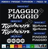 Pimastickerslab Pegatinas Adhesivos Piaggio Vespa Typhoon para Motos, Motocicletas. Cod.0561 (Argento cod. 090)