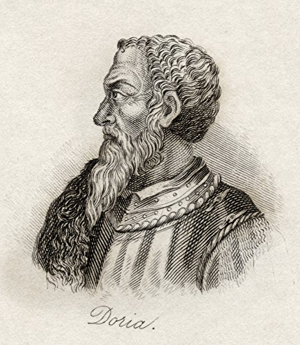 Ken Welsh/Design Pics - Andrea Doria Or D'oria 1466-1560. Genoese Condottiere and Admiral. from The Book Crabb's Historical Dictionary Published 1825. Photo Print (66,04 x 76,20 cm) -