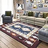 KYDJ Einfache, moderne mediterrane Teppich Wohnzimmer/matten Schlafzimmer Zimmer Home rechteckige Bett Fußbodenbelag (Farbe: Blau, Größe: 120 * 180 cm).