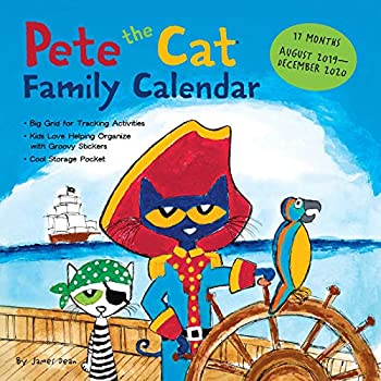Pete the Cat 17-month Family 2019-2020 Calendar