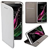 LG Zero Flip case Silber - Moozy® Dünne magnetische