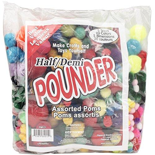 Unbekannt Pepperbell Acryl Sortiert Poms Hälfte Klopfstein 750kg Standard -
