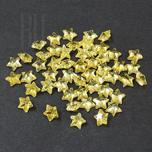 Be You Jaune Couleur Zircone Cubique AAA Qualité Diamant Coupe d'étoile Forme gemme
