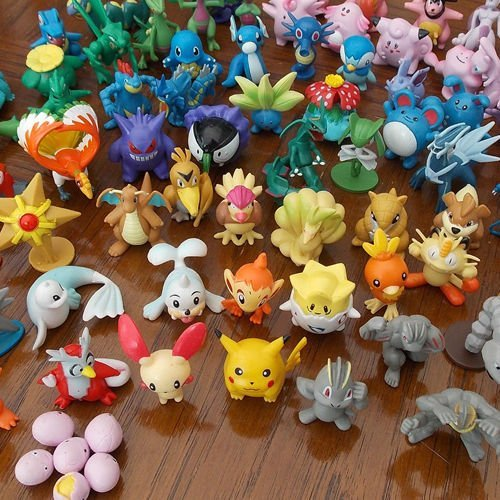 Desconocido Wholesale Mixed Lots 24pcs Pokemon Mini Random Pearl Figures New Hot Kids Toy