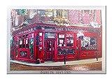 """Folierter Irland-Magnet mit der berühmten Dubliner Kneipe """"Temple Bar"""", bekannt für ihren Whiskey"""