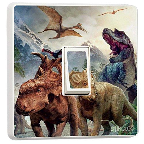 Dinosaurier Lichtschalter Sticker Vinyl Cover Haut [Generic Single] von Lichtschalter CO -