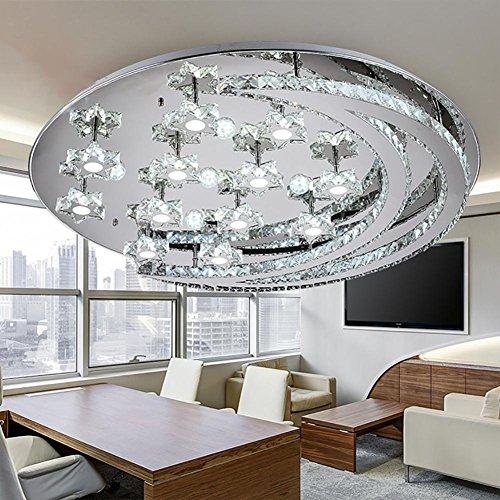 Led Deckenleuchte Wohnzimmer Moderne Minimalistische Mond Kristall Linie Cut Kristall Lampe , 40cm (Cut Glas-deckenleuchte)