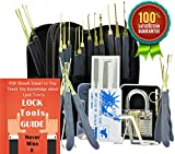 Antool Grau Transparente Vorhängeschloss + 24-Stück Edelstahl Haken Lock Pick-Set mit Kunstleder, Aufbewahrungsbeutel + 5 Stück Kreditkarten-Hüllen.
