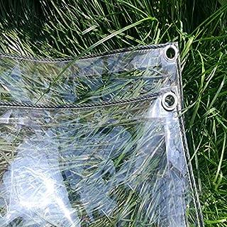 Planen Verdicken Sie klare Tarp Wasserdichtes PVC-Transparentes Plastikschuppen-Tuch-Gewächshaus-Blatt-Abdeckungen, die mit Ösen, 400g / m² regendicht sind (größe : 2.4x3M)