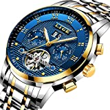 Orologi Uomo Automatico Acciaio inossidabile Impermeabile Meccanico orologio uomo Marchio di lusso LIGE Moda casual calendario Tourbillon orologi uomo da polso