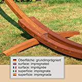 XXL Holz Hängemattengestell 450 cm, aus echter sibirischer Lärche - 3