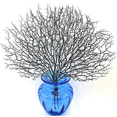 zeit decration Pfau Coral Branch Künstliche Pflanzen Für Dekoration Kunststoff Künstliche Blumen hause party decor, blau (Alle White Party Dekorationen)