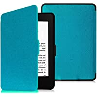 Fintie SlimShell Case for Kindle Paperwhite - The Thinnest and Lightest Cover With Auto Sleep / Wake for All-New Amazon Kindle Paperwhite (Fits All 2012, 2013, 2015 and 2016 Versions), Blue