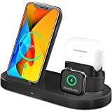 Wireless Charger,3 in 1 Qi-Certified 15W Fast Charger Stand for AirPods, Apple iWatch Series 5/4/3/2/1 Wireless Charging Stat