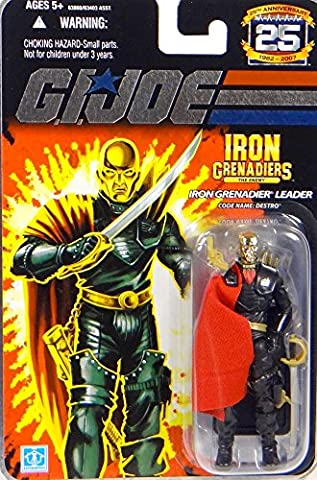 GI Joe - 25th Anniversary - Collector Edition - Wave 3 - IRON GRENADIERS LEADER - Code Name: DESTRO-