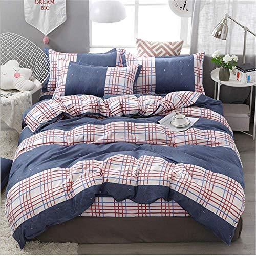 äsche Set Bettbezug Set Twin Voll Königin King Size Bettbezug Set Kissenbezug Mode Bettwäsche A 180x220 cm ()