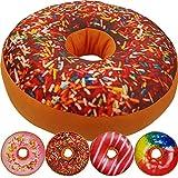PROHEIM Donut Kissen 40 cm Super Softes Dekokissen dekoratives Zierkissen Sitzkissen Extra Dick und Extra Flauschig Variante Wählbar, Farbe:Bunte Streusel