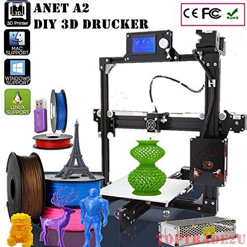 Anet A2 intelligente 3d-drucker Desktop Printer LCD-Bildschirm DIY Lasergravurfunktion 3D-Druckfunktion LCD-Anzeige