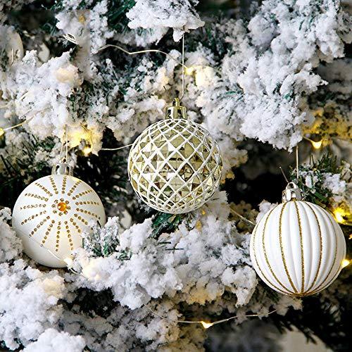 Decor Pendenti di Natale 30PCS / Box Decorazioni Natalizie per Palline per la casa Palline Albero di Natale Appeso Ornamento Pendente Decor Forniture per Feste Palla Dipinta da 6 cm