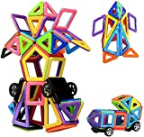 Magnetic Building Blocks | 76 Pieces | Let Your Kid Learn Colors and Shapes through Play | Instruction Booklet and Storage Bag Included | Creative and Educational Gift for Kids...