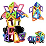 Magnetic Building Blocks | 76 Pieces | Let Your Kid Learn Colors and Shapes through Play | Instruction Booklet and Storage Bag Included | Creative and Educational Gift for Kids