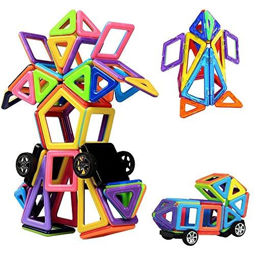 MINI Blocchi Costruzioni Magnetiche InnooTech 76 pezzi Giocattoli Educativi Kit Accatastamento Aggiornati per I Bambini Lasciate che il Vostro Bambino Imparare Colori e Forme Attraverso