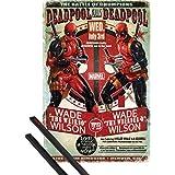 Póster + Soporte: Deadpool Póster (91x61 cm) Wade Vs Wade y 1 lote de 2 varillas negras 1art1®