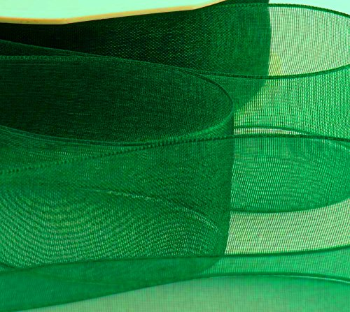 1x 50Meter Rolle Organzaband 2,5cm Zoll/25mm–grün–46meter/50Yards.... 2kaufen & Get 1Gratis (Over The Top Ii)