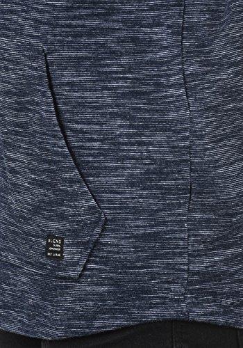 BLEND Juno Herren Sweatjacke Kapuzen-Jacke Zip-Hood aus 100% Baumwolle Meliert Navy (70230)