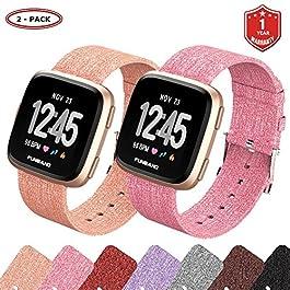 FunBand Fitbit Versa Cinturino Tessuto, Sostituzione Band Strap Cinturino per le Donne Uomini Cinturino a Sgancio Rapido Orologio per Fitbit Versa Smart Watch