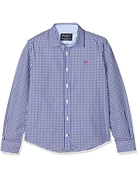 Hackett London Gingham Check B, Blusa para Niños, Multicolor (Blue/White 5ar), Talla única (Talla del Fabricante...