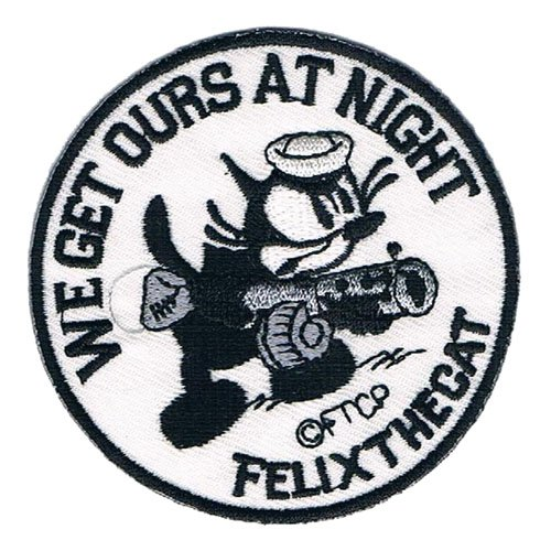 "Preisvergleich Produktbild Aufnäher / Iron on Patch "" Felix The Cat / We Get Ours At Night "" 7 cm"