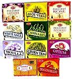 Räucherkegel Mix 11 verschiedene HEM je 10 Stück Goloka Sandelholz Cannabis Rose Vanille Aloe Vera Weihrauch