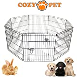 Cozy Pet Puppy Playpen for Dogs Puppies Rabbits Guinea Pigs, Puppy Play Pen Whelping Pen Dog Cage Puppy Crate Rabbit Run 3 Sizes Available - PP01. (We