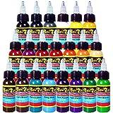 Solong Tattoo® Kit de juego de 21colores básicos–Tinta Pigmento 1oz (30ml) profesional Kit de Tatuaje suministro para tatuajes ti301–30–21