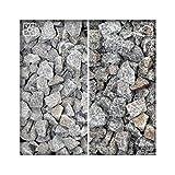 Granit Splitt Zierkies Hellgrau 16/32 Kiesel Garten Deko Granitsplitt 25 kg Sack
