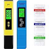 VINKK PH Mètre, Mètre PH TDS EC température 4 en 1 Set, Test PH Écran LCD, pour l'eau Potable, Aquariums, Piscines