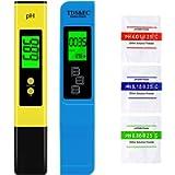 VINKK Misuratore PH, Tester Qualità Acqua TDS PH EC Temperatura 4 in 1 Set, Auto-Calibrazione Portatile PH Test per…
