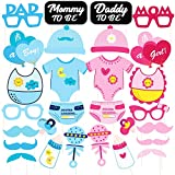 #5: Discount Retail Photo Booth Props for Baby Shower (28 Pieces)