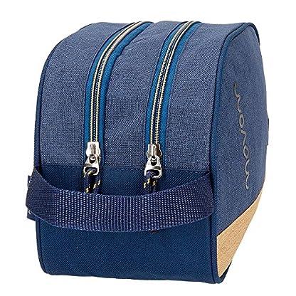 Neceser Movom Babylon Azul doble compartimento adaptable a trolley