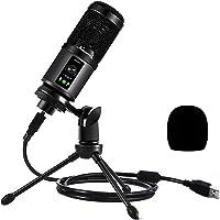 USB Mikrofon, Kondensator PC Mikrofon mit Ständer, 192KHZ/24BIT Computer Mikrofon für Gaming Streaming Podcasting…