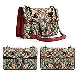 - 61a9vVEsP3L - Womens Fashion Leather Vintage Large Crossbody Bag Handbag Ladies Designer Bags Single Shoulder Bag