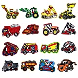 Meetlight Lot de 16 écussons thermocollants ou à coudre pour enfants Motif bus ou...