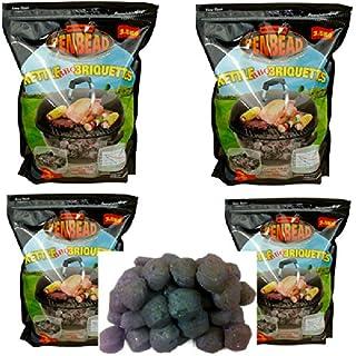 4 (3.5kg bags) Penbead Premier Charcoal Briquettes Plus 2 (5kg)bags Hardwood Lumpwood Charcoal Plus 1 box Lighter Cubes