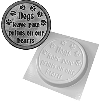 "Dogs leave paw prints plaque mold concrete plaster mold 10/"" x 8/"" x 1/"" thick"