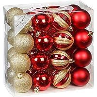Christbaumkugeln Glas Rot Gold.Suchergebnis Auf Amazon De Fur Weihnachtskugeln Rot Gold