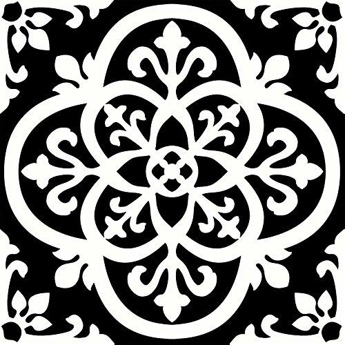 Wallpops fp2475Gothic schälen und Stick Boden Fliesen, schwarz, Set 10Stück